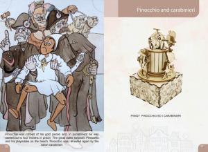 Pinocchio and the carabinieri 3Dino model