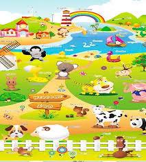 Babypol floor mat Farm