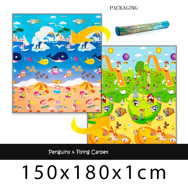 Babypol mat Penguins & Flying Carpet